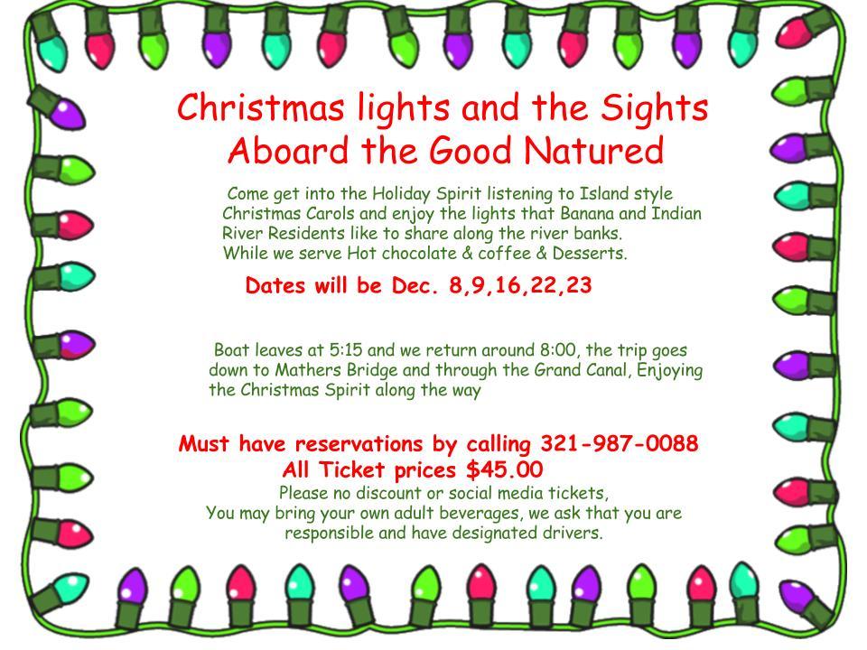 christmas light flyer